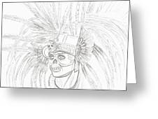 Aztec Warrior Greeting Card