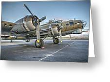 B17 Flying Fortress On The Ramp At Livermore Greeting Card