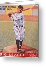 Babe Ruth (1895-1948) Greeting Card