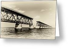 Bahia Honda Bridge Greeting Card