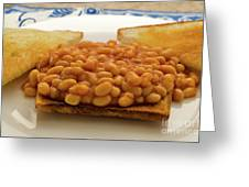 Baked Beans On Toast Greeting Card