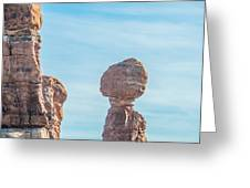 Balanced Rock In Arches National Park Near Moab  Utah At Sunset Greeting Card