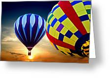2 Balloons Greeting Card