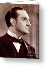 Basil Rathbone, Actor Greeting Card