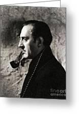Basil Rathbone As Sherlock Holmes Greeting Card