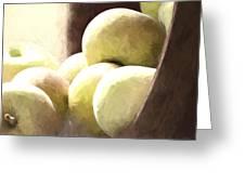 Basket Of Apples Greeting Card