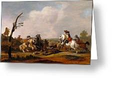 Battle Scene Greeting Card