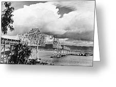 Bay Bridge Under Construction Greeting Card