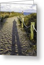 Beach Entry Greeting Card