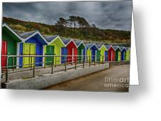Beach Huts 1 Greeting Card