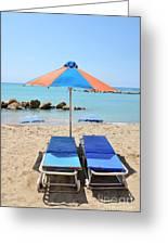 Beach Resort Greeting Card