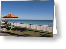 Beachland Boulevard At Vero Beach In Florida Greeting Card