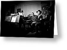 Beck And Philip Glass Photographed By Anna Webber, September 23rd, Greeting Card