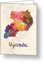 New Hampshire Us State In Watercolor Text Cut Out Greeting Card