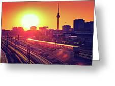 Berlin - Sunset Skyline Greeting Card