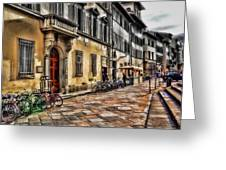 Bicycles In Florence Greeting Card