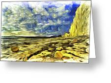 Birling Gap And Seven Sisters Art Greeting Card