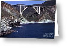 Bixby Creek Aka Rainbow Bridge Bridge Big Sur Photo  Greeting Card