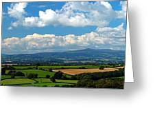 Black Mountains And Vale Of Usk Greeting Card