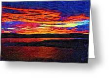 Blaze In The Sky Greeting Card