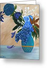 Blue Passion Greeting Card