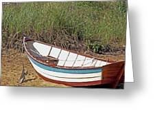 Boat And Anchor Greeting Card
