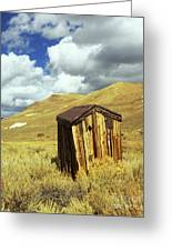 Bodie Outhouse Greeting Card