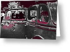 Bonnie And Clyde Death Car South Of Gibsland Toward Sailes Louisiana May 23 1933-2013 Greeting Card