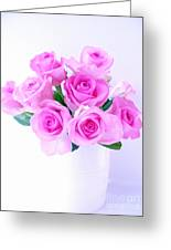 Bouquet Of Pink Roses Greeting Card