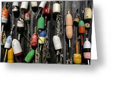 Buoys In Rockport Greeting Card