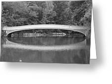 Bow Bridge Central Park Greeting Card