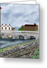 Bridge In Old Galway Ireland Greeting Card