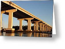 Bridge Pilings Greeting Card