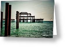 Brighton West Pier Greeting Card