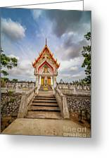 Buddhist Temple Greeting Card by Adrian Evans