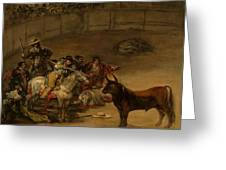 Bullfight - Suerte De Varas Greeting Card