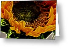Burning Sun.. Greeting Card