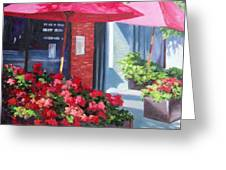 Cafe In Red Greeting Card