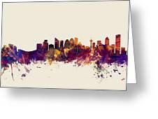 Calgary Canada Skyline Greeting Card