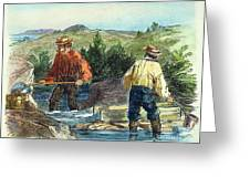 California Gold Rush Greeting Card
