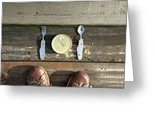 Canned Meal At A Camping Trip Greeting Card