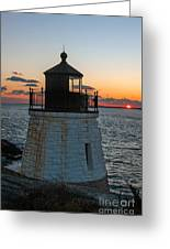 Castle Hill Light Newport Rhode Island Greeting Card