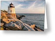 Castle Hill Lighthouse, Newport, Rhode Island Greeting Card
