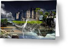 Castle In The Sky Art Greeting Card