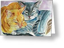 Kitty And Kat Greeting Card