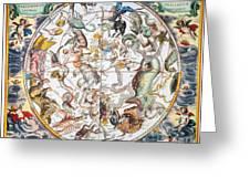 Celestial Planisphere, 1660 Greeting Card