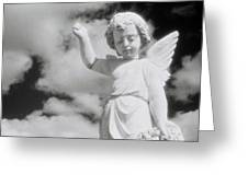 Cemetery Angel. Greeting Card