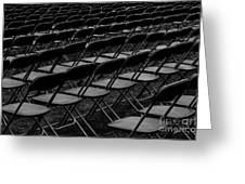 Chair Pattern Empty Seats Greeting Card