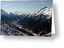 Chamonix Resort In The French Alps Greeting Card