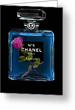 Chanel With Rose Greeting Card